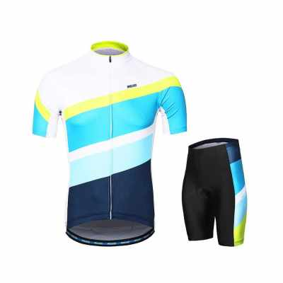 ARSUXEO Men's Cycling Clothing Set Short Sleeve Set Quick-dry Shirt 3D Cushion Padded Short Pants (6)